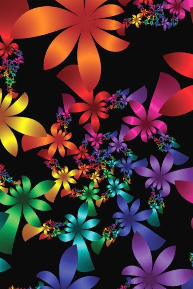 Beautiful Flowers Flori Cg Art Iphonewallpapers   Beautiful 640x960