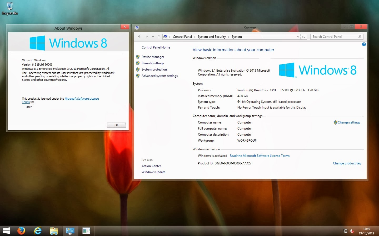 How to Remove watermark from Windows 81 Enterprise Evaluation 1440x900