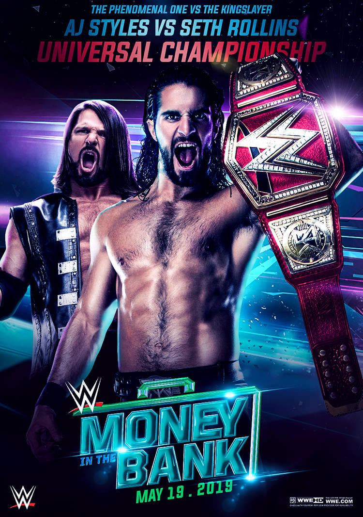 WWE Money in the Bank 2019 Poster by workoutf 750x1066