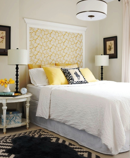 crown molding and wallpaper as headboard Pillows Headboards Pin 550x668