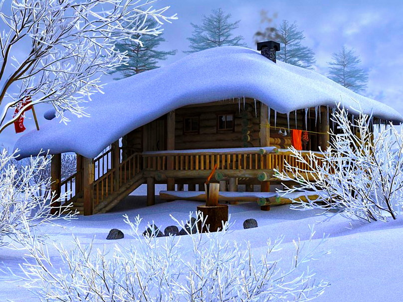 Cozy Winter Scenes Wallpaper - WallpaperSafari