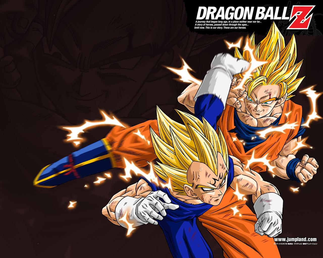 Dragon Ball Dbz Goku Majin Vegeta HD Wallpaper 1280x1024