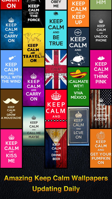 Keep Calm Wallpapers   iPhone Mobile Analytics and App Store Data 361x640
