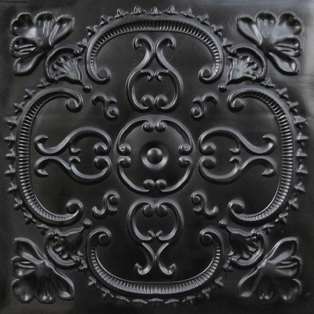 217 Faux Tin Ceiling Tile 24x24   Black   Ceiling Tile   by Decorative 640x640