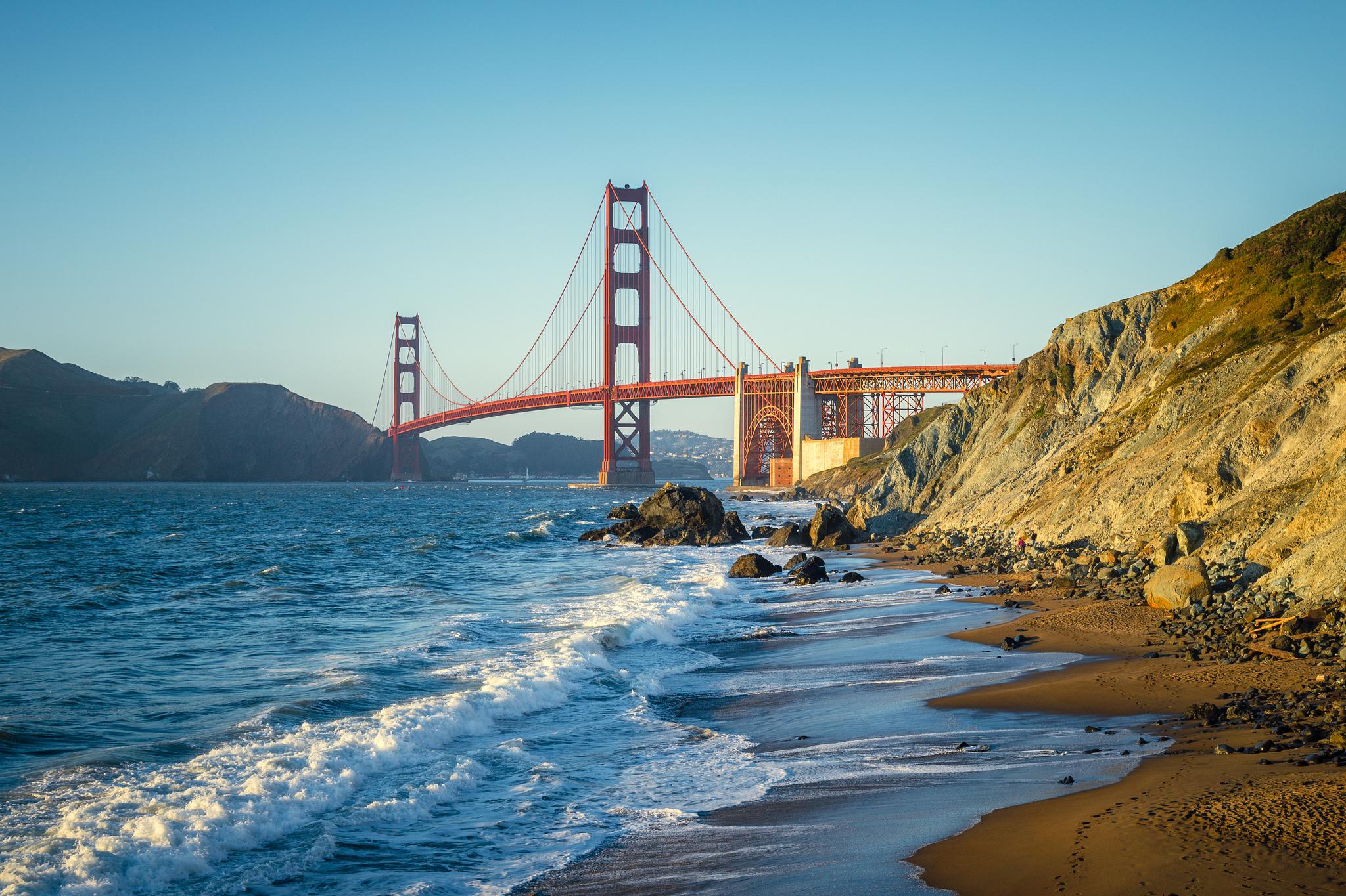 Golden Gate Bridge Nude Beach, San Francisco