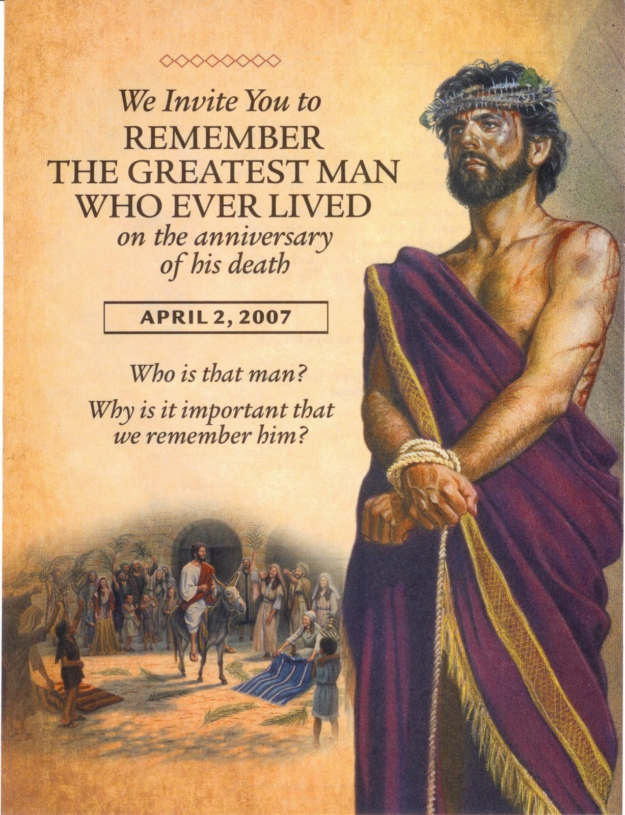 Jehovah witnesses images Flyer For 2007 Memorial Celebration HD 1227x1600