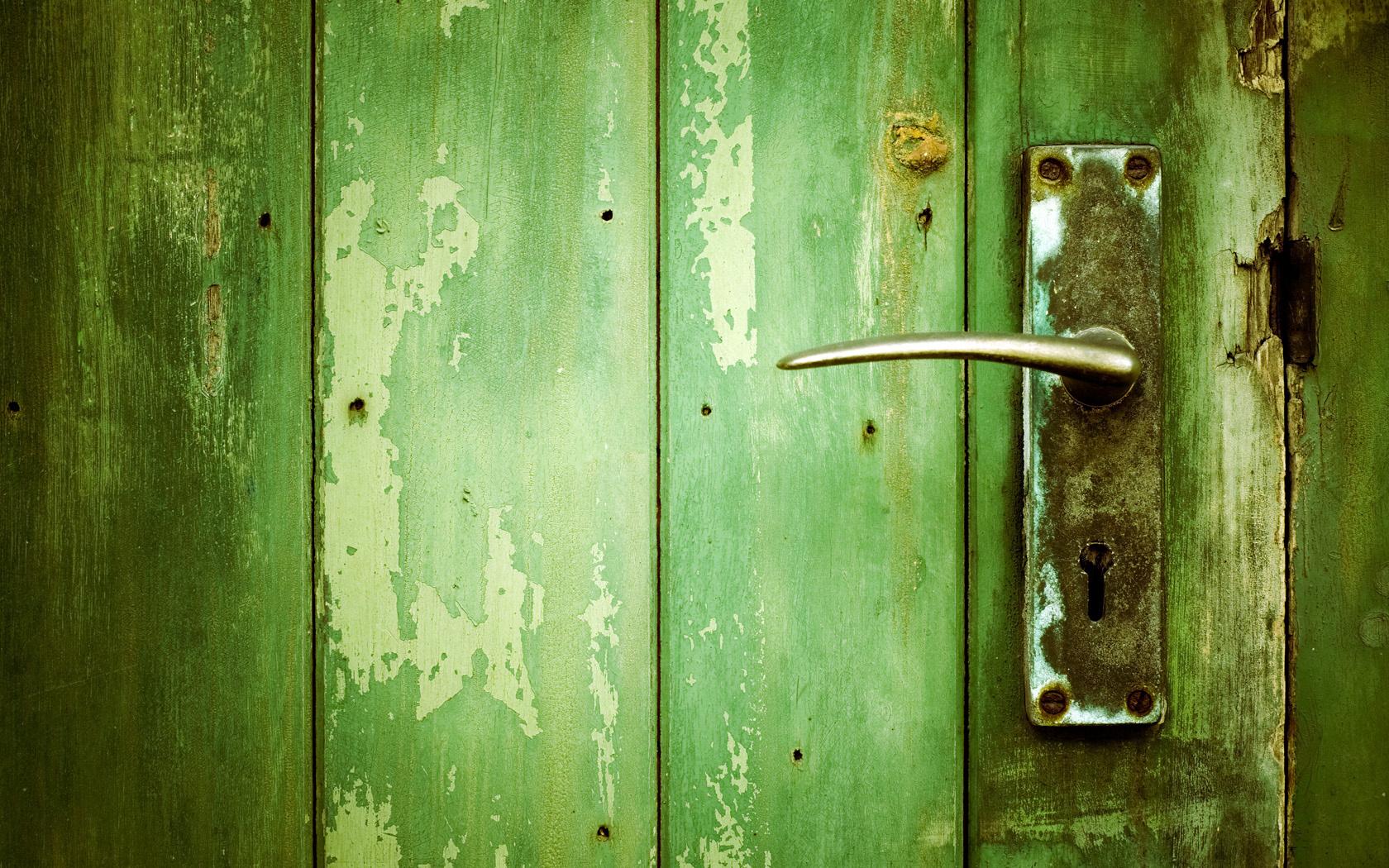 Wallpapers door handle green door desktop HD Desktop Wallpapers 1680x1050