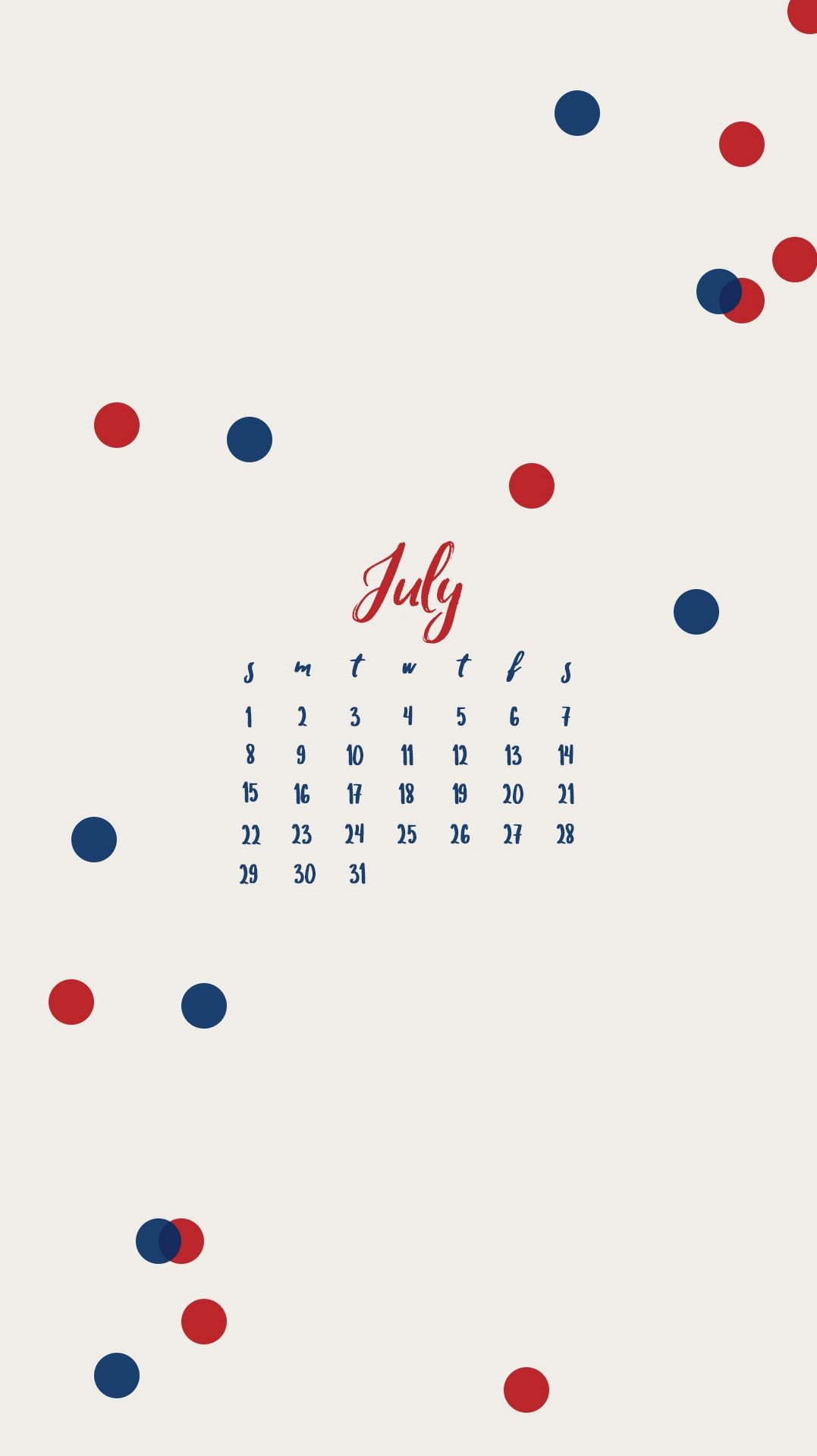 July 2018 iPhone Calendar Design Calendar 2018 in 2019 1077x1918