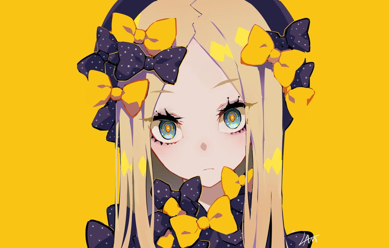 Wallpaper anime art girl yellow background Fate Grand Order 1332x850