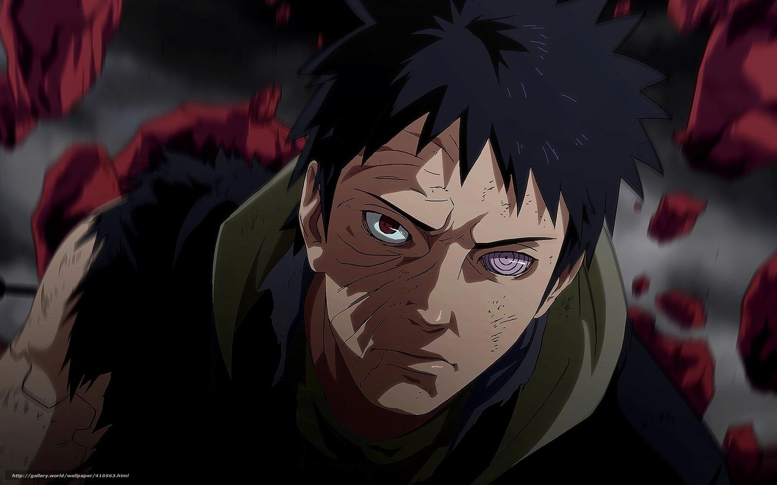Papel de parede Uchiha Obito furaco crnicas sharingan Naruto 1600x1000