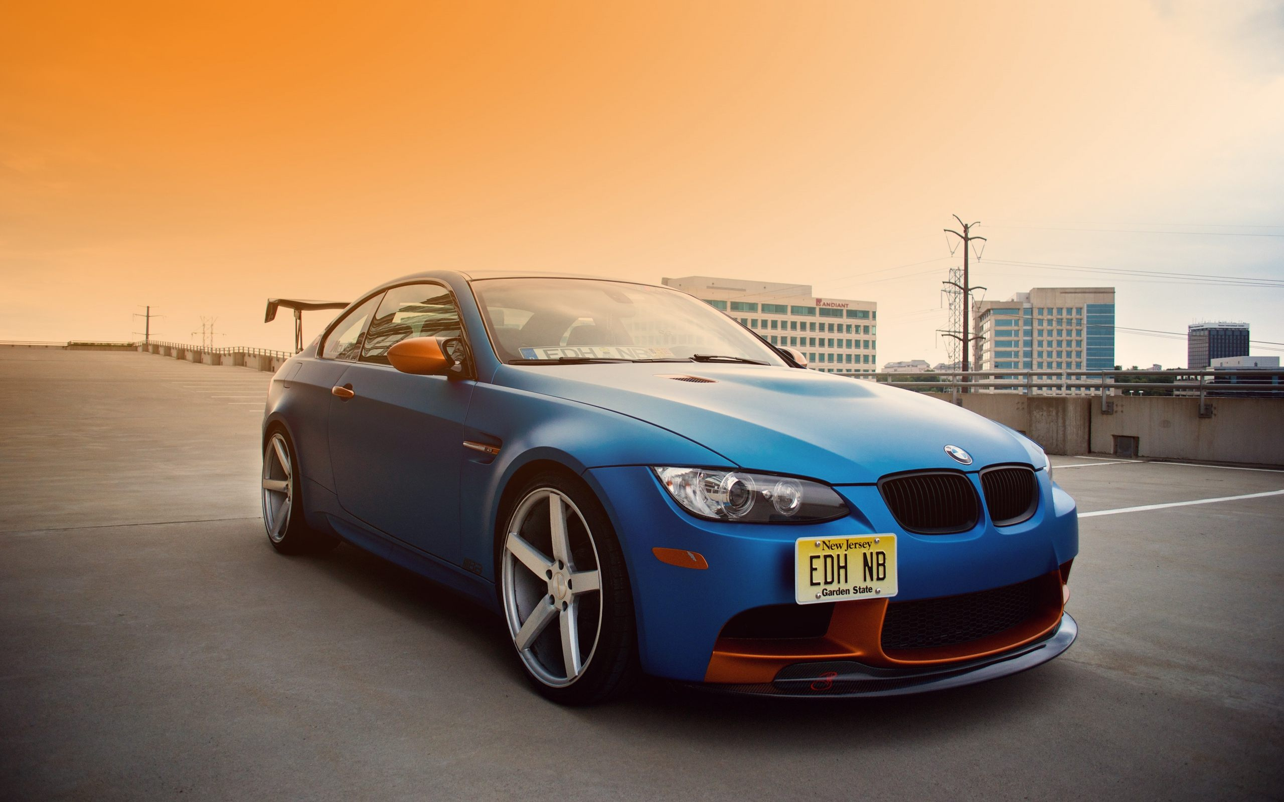 BMW E92 M3 Blue Car Wallpaper HD For Desktop amp Mobile 2560x1600