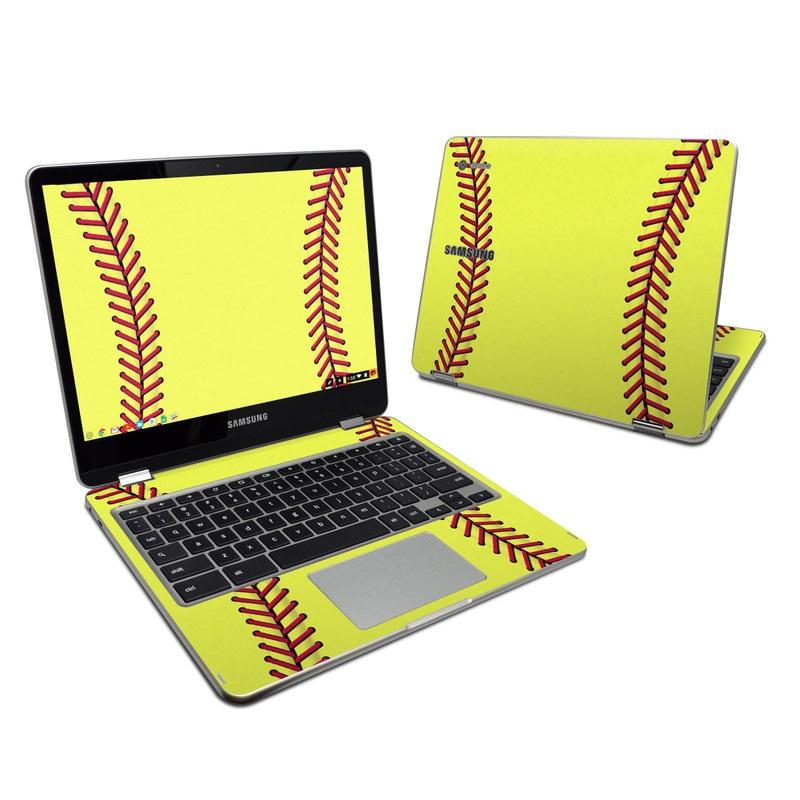 Samsung Chromebook Plus 2017 Skin   Softball by Sports DecalGirl 800x800