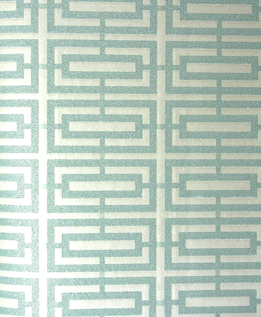 Kikko Trellis Wallpaper Geometric trellis design with pearlised beaded 519x630