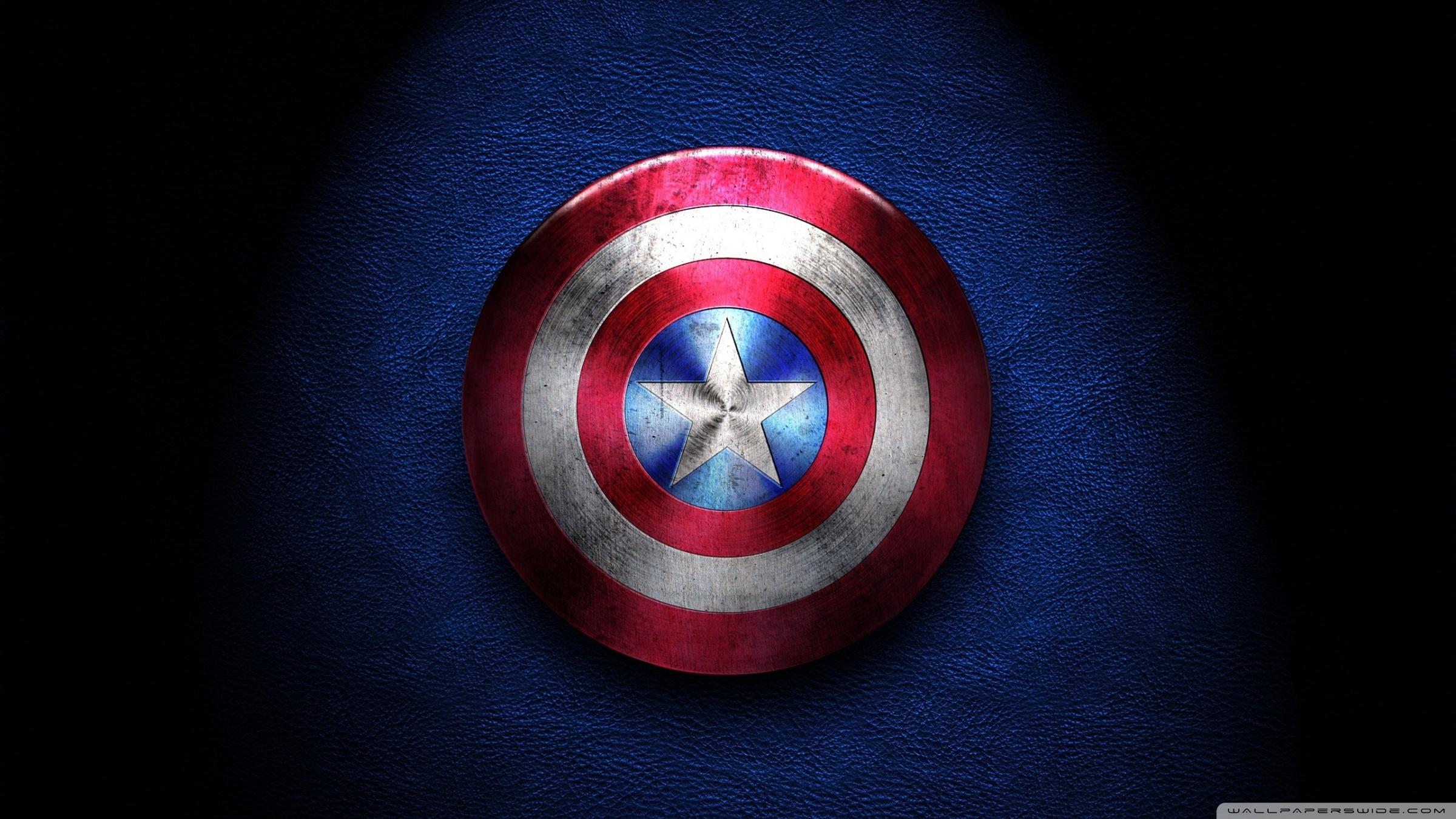Captain America Shield 4K HD Desktop Wallpaper for 4K Ultra HD 2400x1350