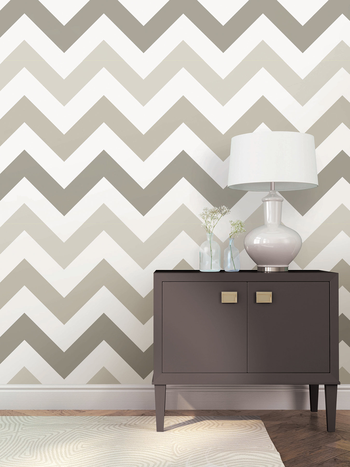 WallPops Taupe Zig Zag Wallpaper Roll Reviews Wayfair 1350x1800