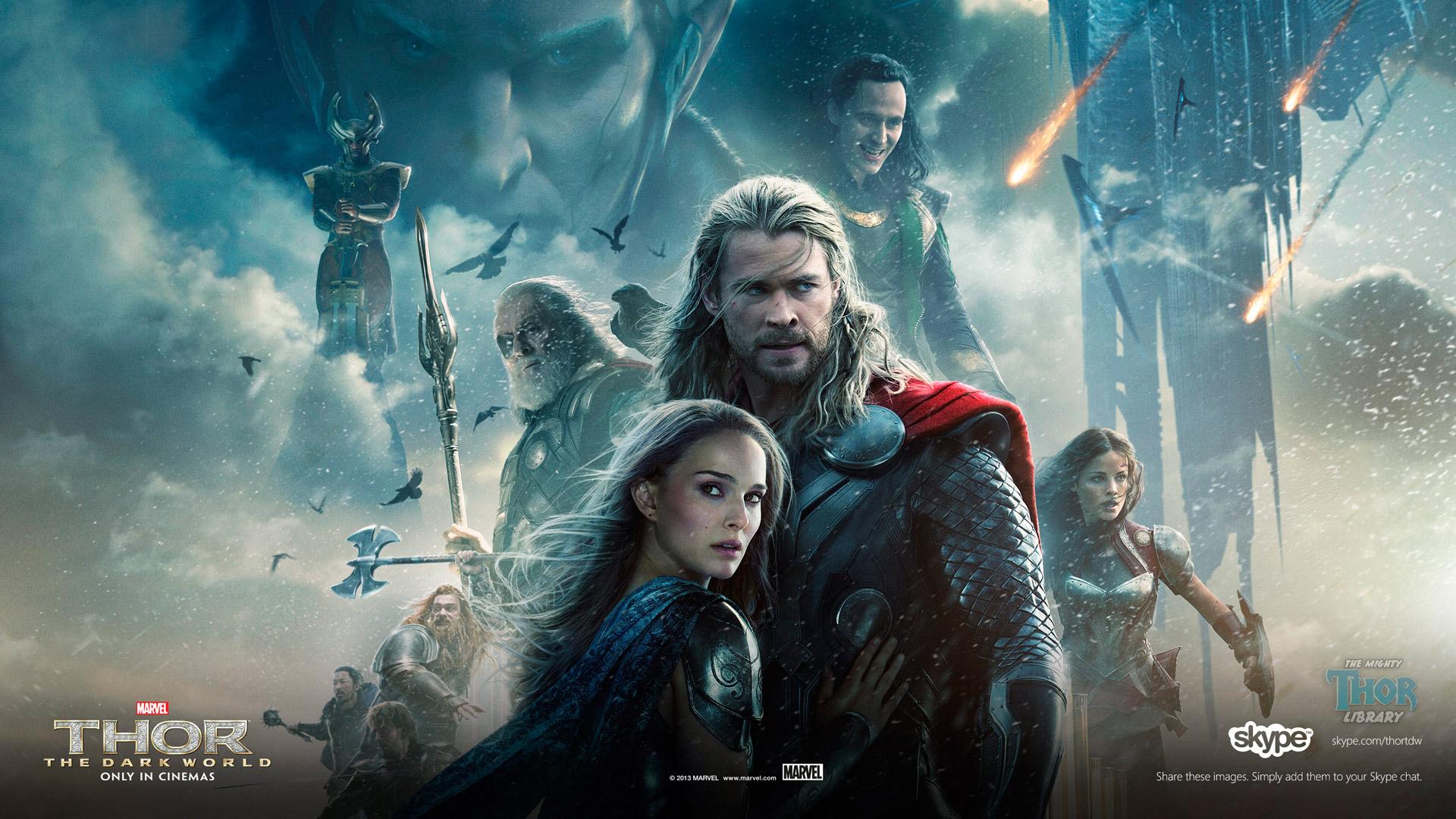 Thor The Dark World Poster Skype Wallpaper 1920x1080