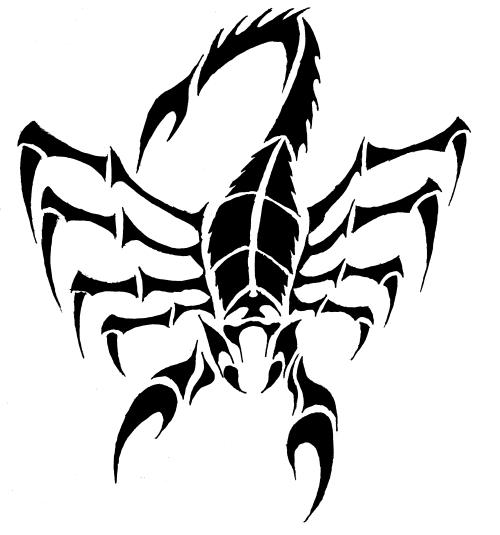 Tribal Scorpion by Zankor 500x535