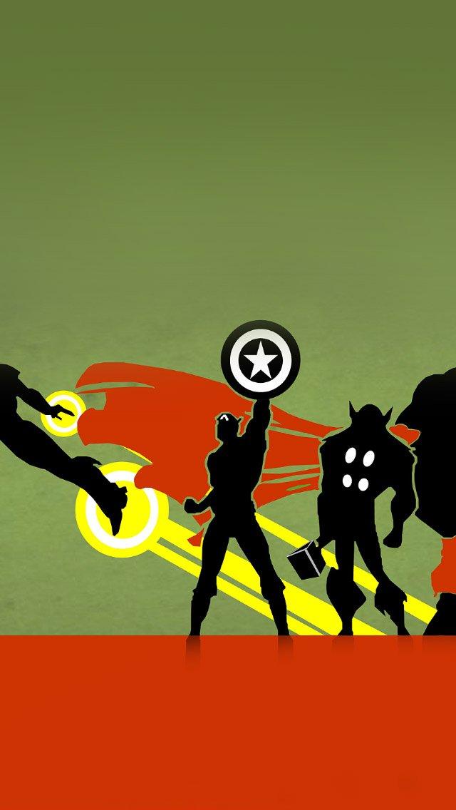 FREEIOS7 heros illust avengers   parallax HD iPhone iPad wallpaper 640x1136