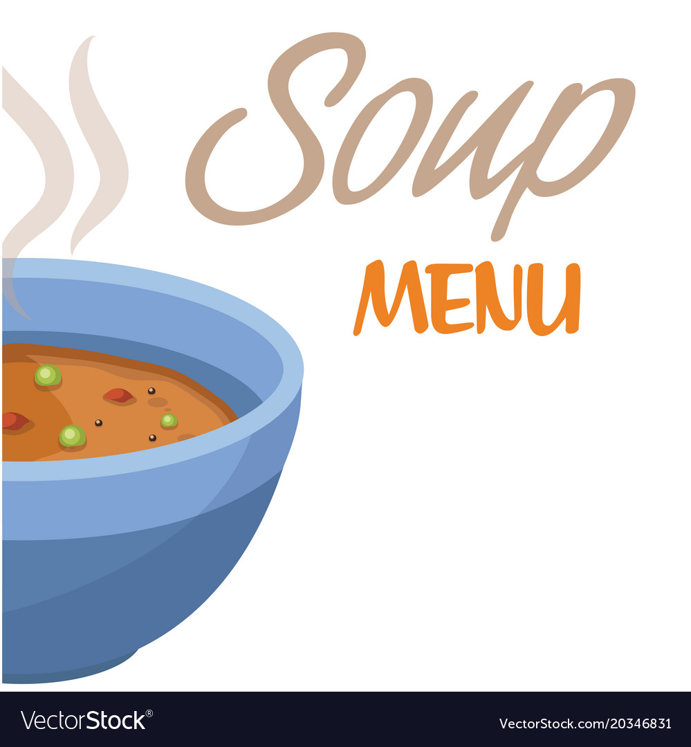 Soup menu soup background image Royalty Vector Image 999x1080