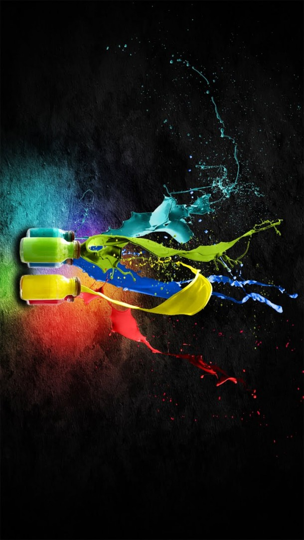 high definition mobile phone wallpapers 720x1280 hd paint colours 610x1084