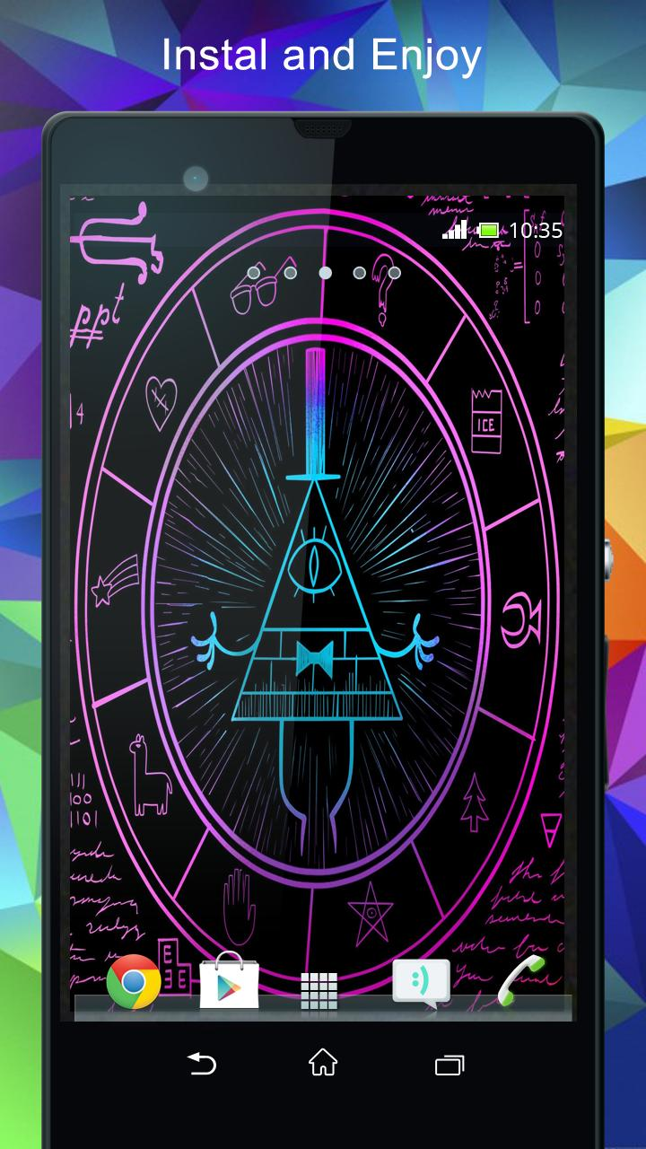 Gravity Falls Bill Cipher Wallpaper for Android   APK Download 720x1280