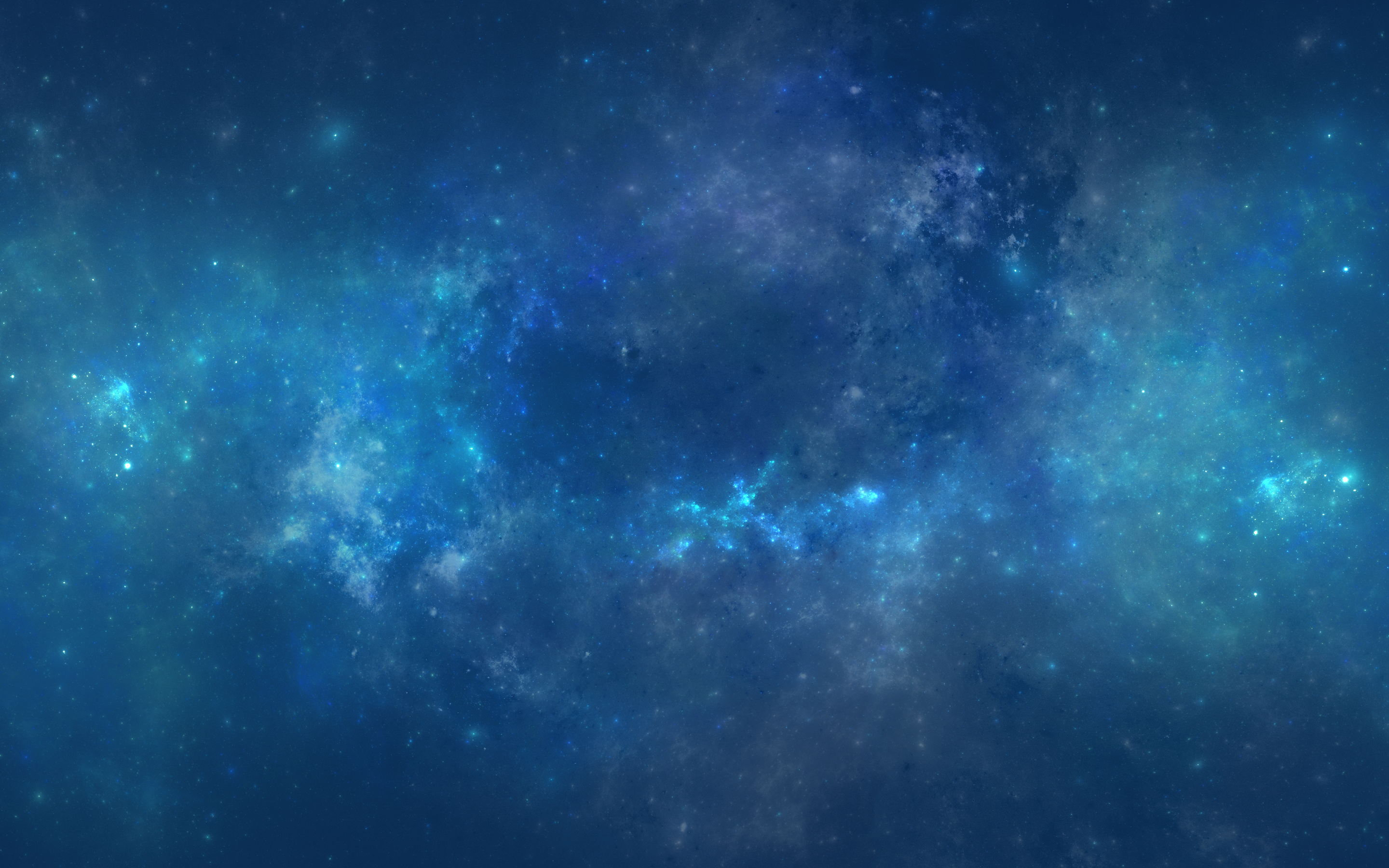 Wallpapers Blue Drawings and Paintings Space Nebulae Stars 4K 2880x1800