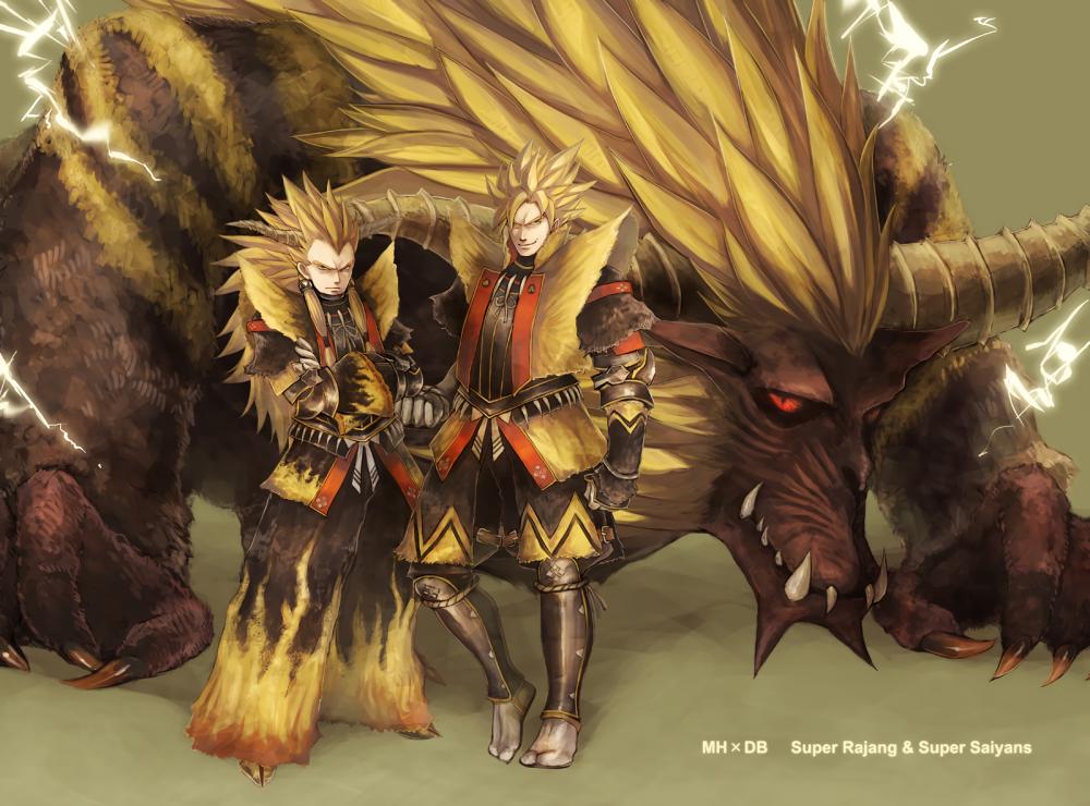 Wallpaper Dragon Ball Z Goku Vegata Monster Hunter Rajang 1000x740