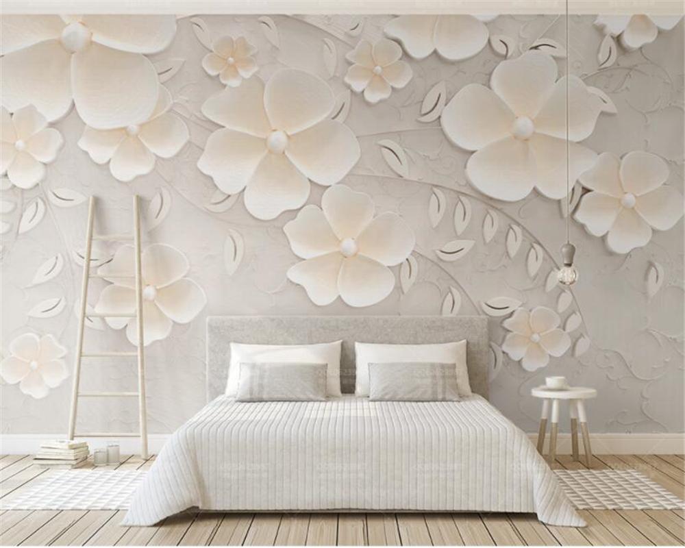 Beibehang Custom Wallpaper Beige