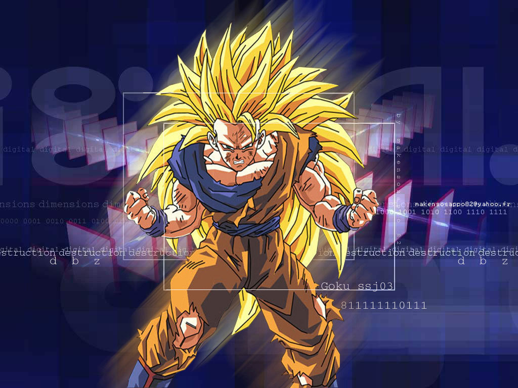 Goku Super Saiyan 3 Hintergrund 2   Dragonball Z Movie Characters 1024x768