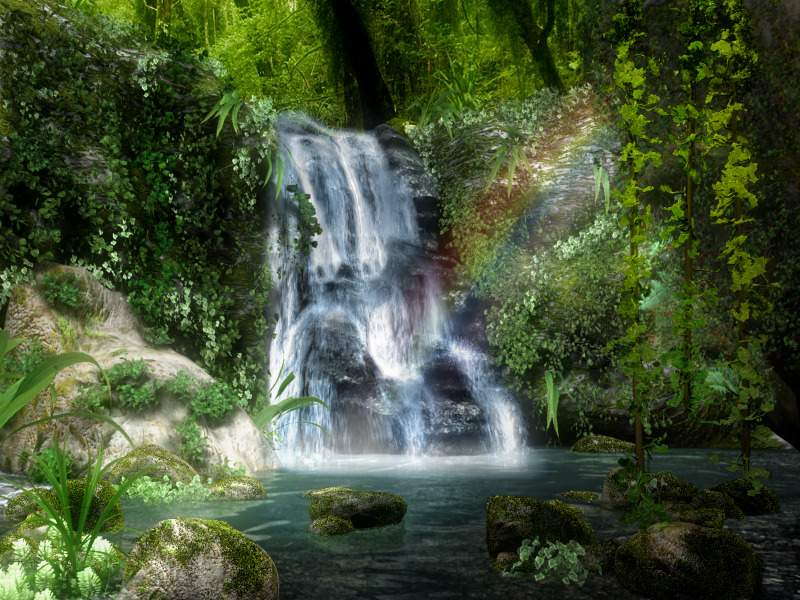 Download 3D Waterfall Screensaver   DesktopScreen Savers 800x600
