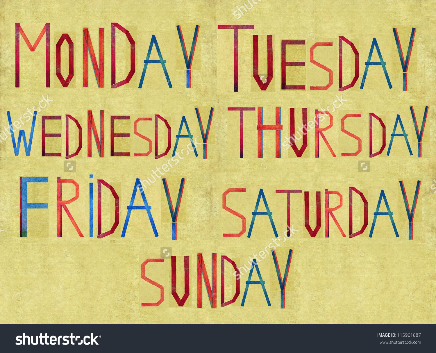 Earthy Background And Design Element Depicting The Days Of The Week 1500x1214