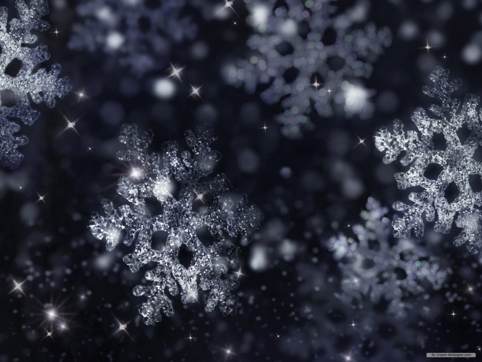 Winter snowflake background vector download 1600x1200 1600x1200