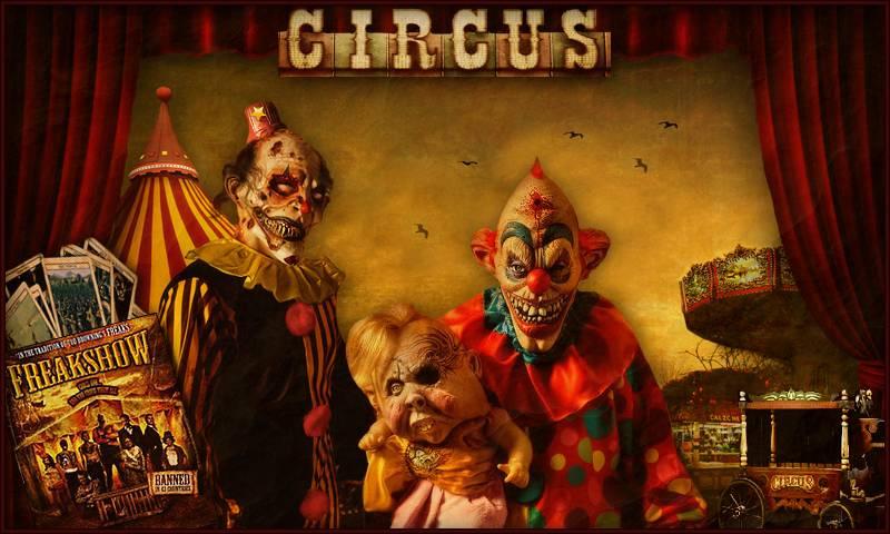 Evil clown wallpapers wallpapersafari - Circus joker wallpaper ...