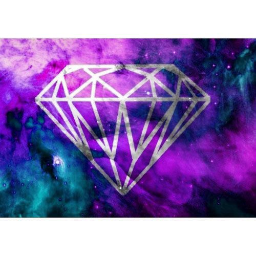 Purple Pink Teal Galaxy Diamond Galaxy diamond Pinterest 500x500