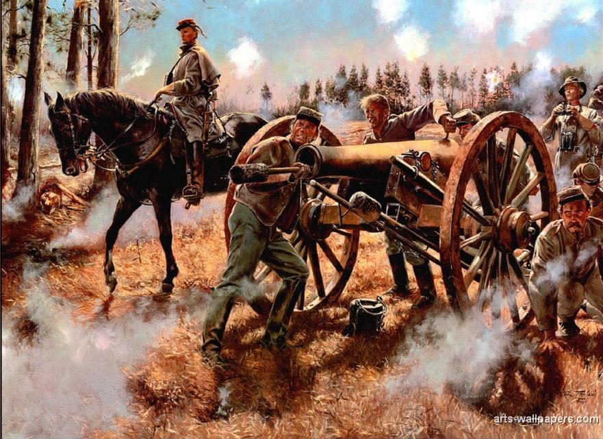 American Civil War Paintings Art Prints Gallery Pictures Artworks 881x641