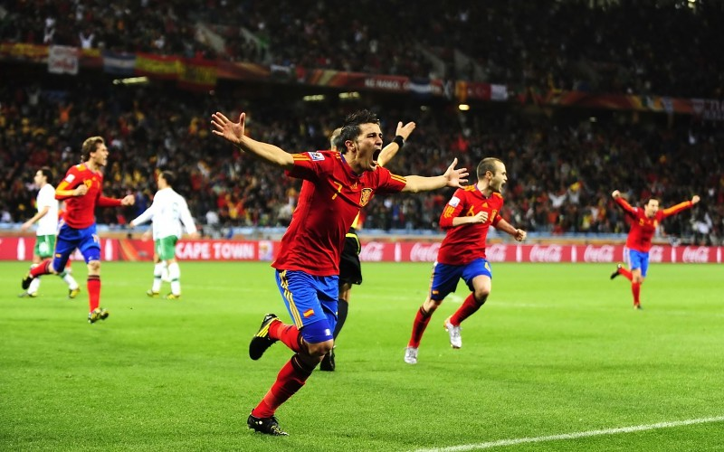 Soccer spain national football team david villa xavi 800x500
