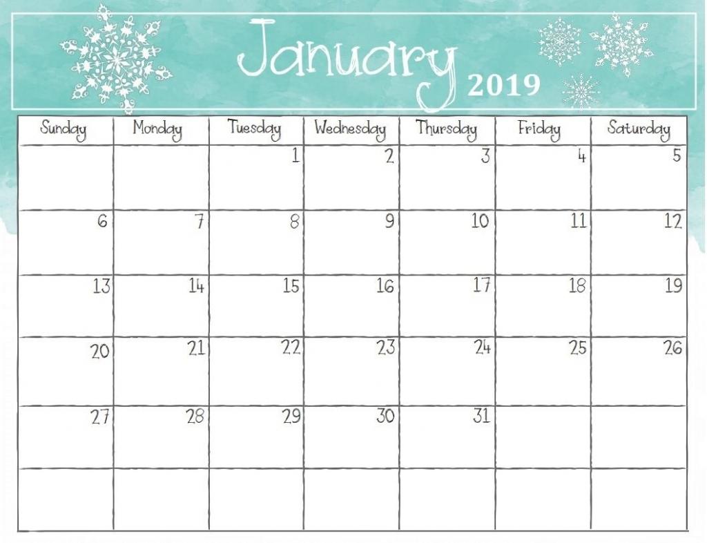 January 2019 Calendar For Desktop 2018 Calendar Printable 1024x786