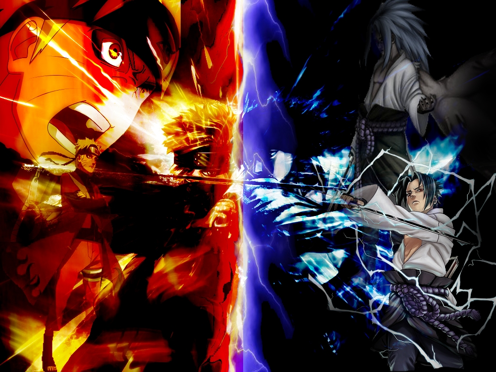 Free Download Wallpapersku Naruto Vs Sasuke Wallpapers 1024x768