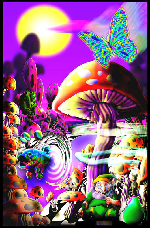 trippy paradise in our dreams 520x792