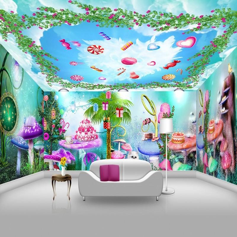 photo wallpaper Beautiful natural scenery blue sky carton food 3d 800x800