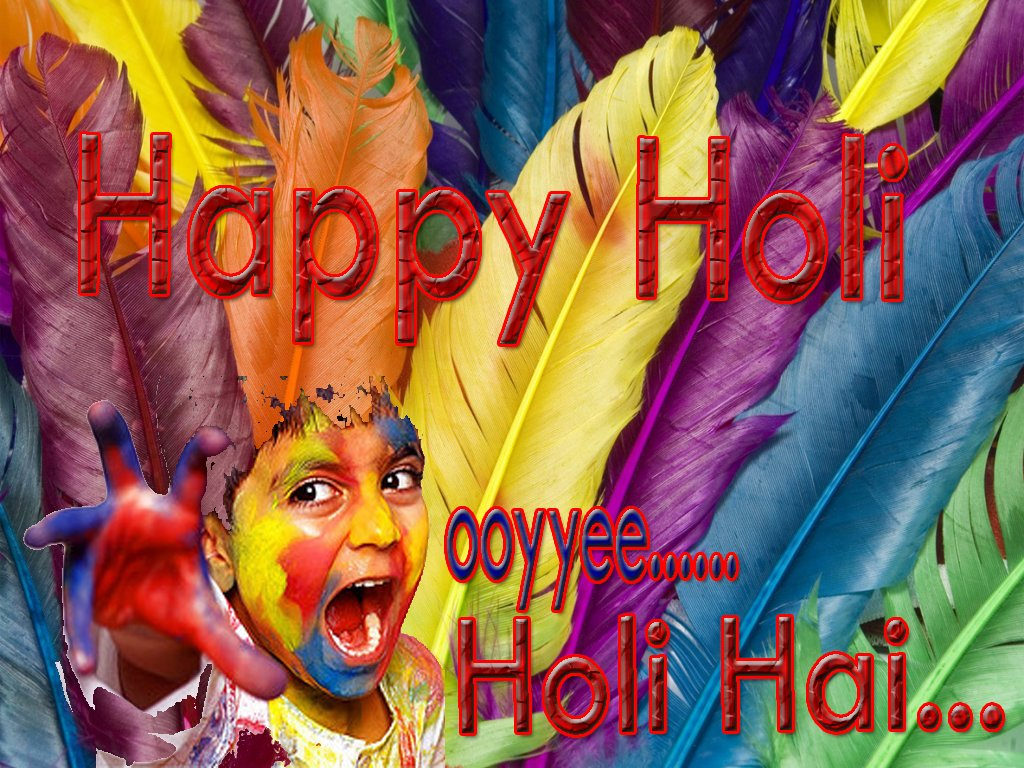 Cute Happy Holi 2018 Images and Wallpapers   Holi Festival 1024x768