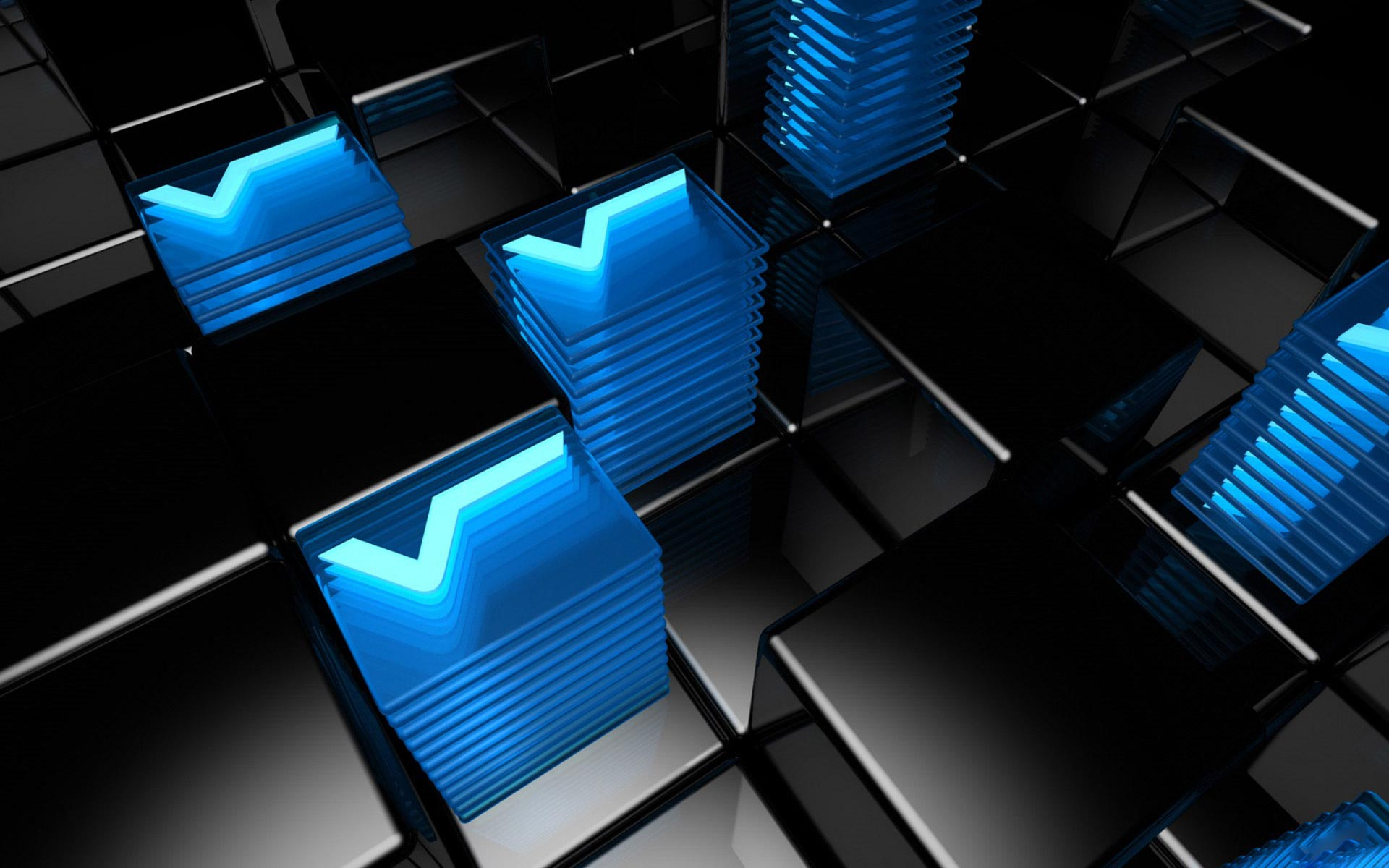 Blue 3D Abstract Desktop Backgrounds 1920x1200