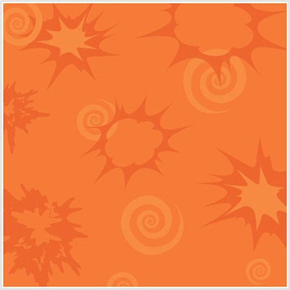 Bursts and Scroll Orange Wallpaper   Wall Sticker Outlet 570x570