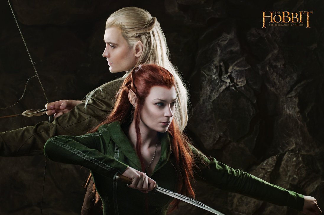 Legolas and Tauriel 1   The Hobbit cosplay test by LuckyStrike 1096x728