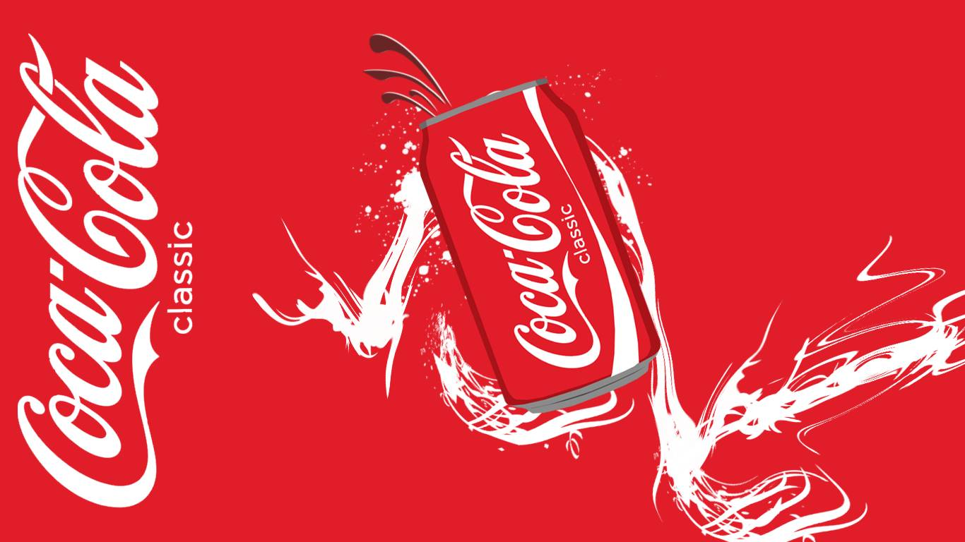 brand new   Coke Wallpaper 1366x768