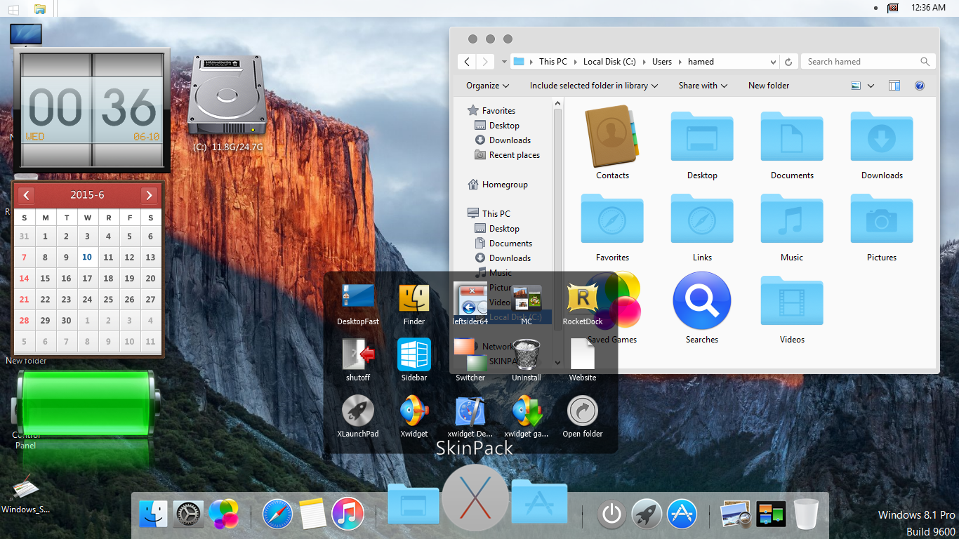 Mac OS X El Capitan SkinPack SkinPack   Customize Your Digital World 1366x768