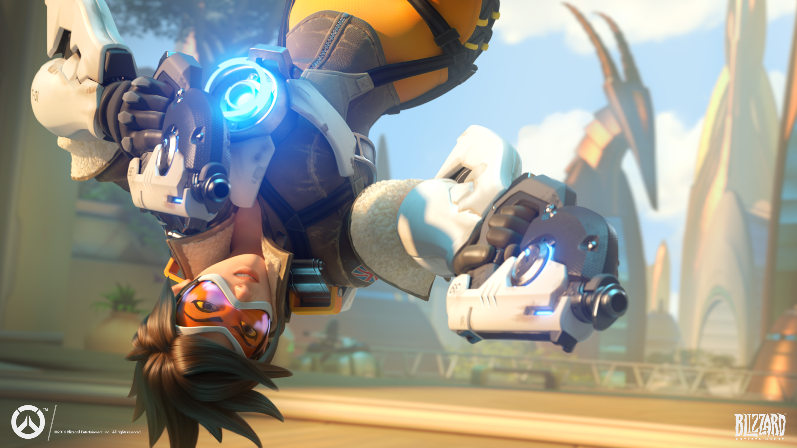 Tracer Overwatch Action Wallpapers HD Wallpapers 2560x1440