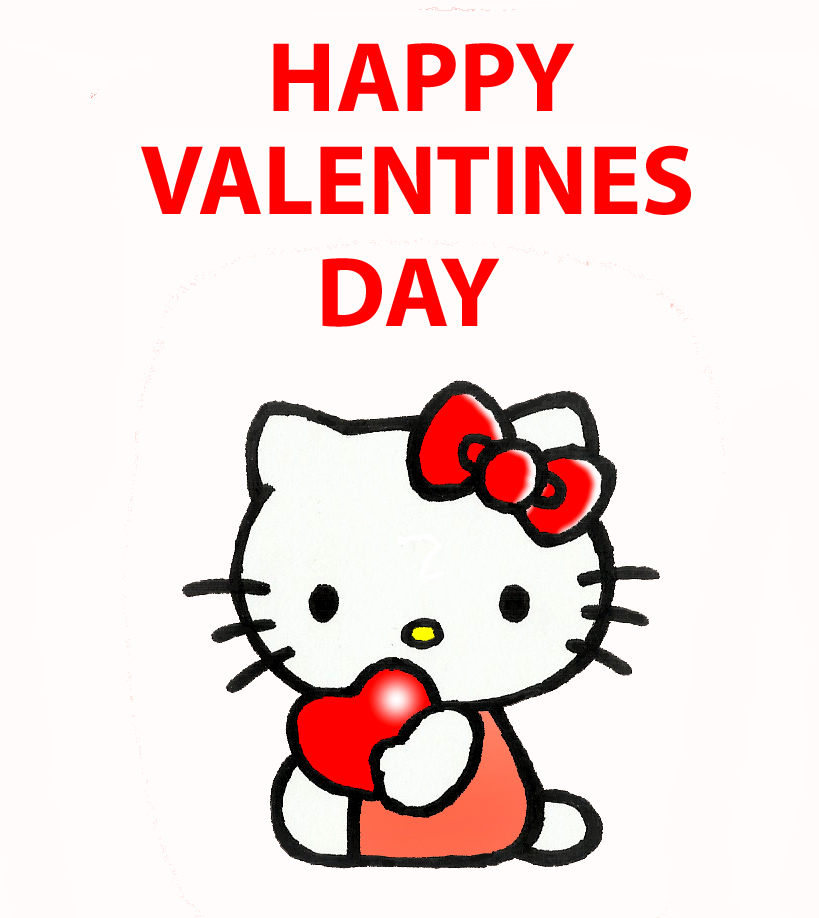 Hello Kitty Valentines by kilroyart 819x918