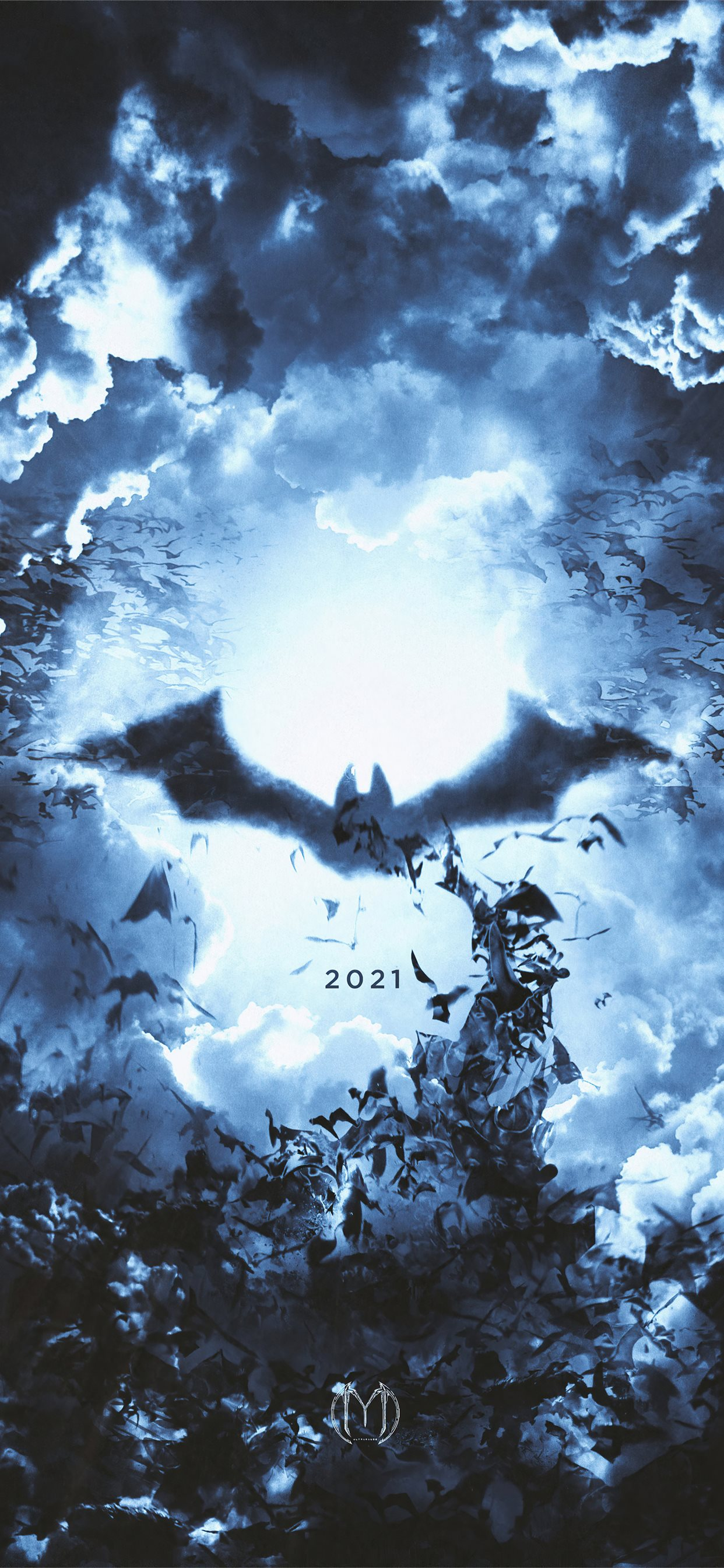the batman logo 2021 iPhone 11 Wallpapers Download 1242x2688