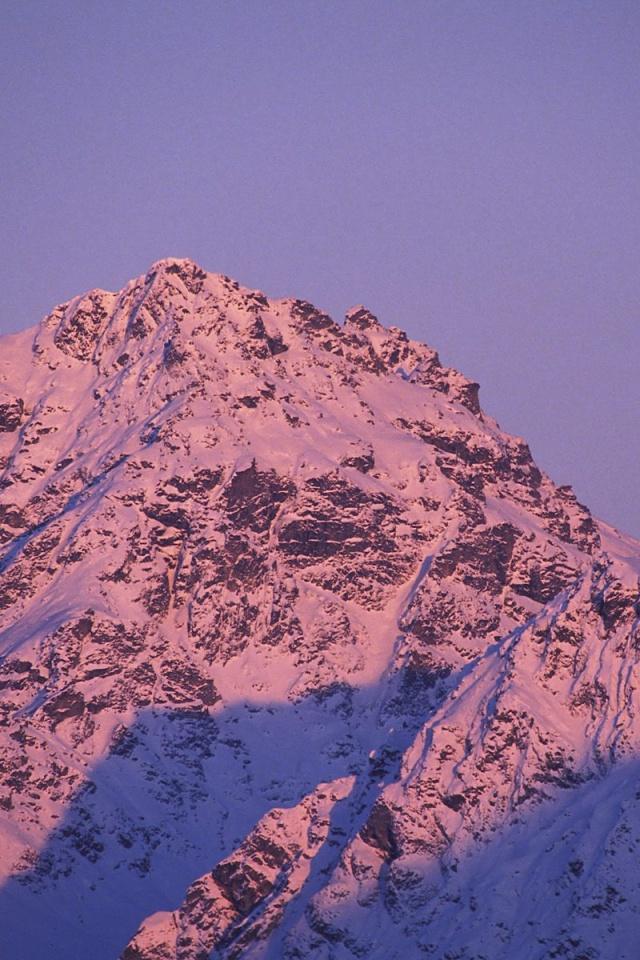 640x960 Moonrise Alpenglow Iphone 4 wallpaper 640x960